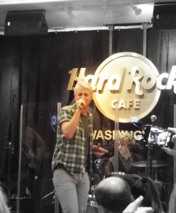 Students from School of Rock music schools perform at live venues such as the Hard Rock Cafe in Washington DC.